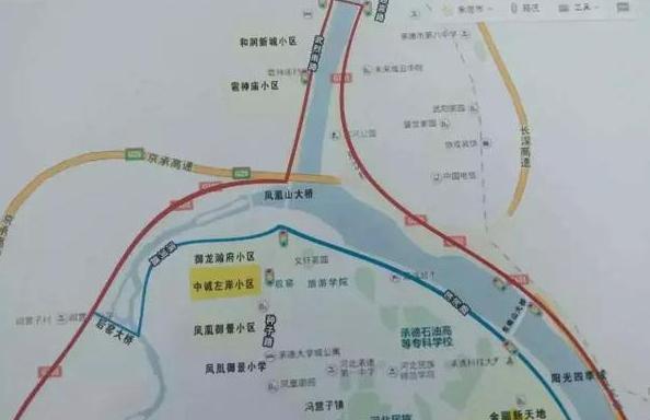 河北承德市高新区滨河路工程崔梨沟段道路即将通车